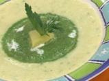 Крем супа от праз със спаначено пюре