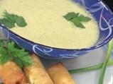 Супа от броколи с кашкавалени пурички