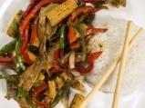 Пъстри зеленчуци с гъби и ориз