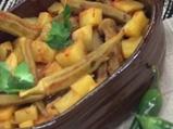 Бамя с картофи на микровълнова фурна
