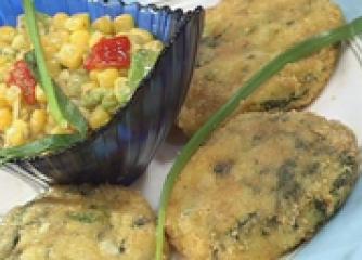 Картофени кюфтета със спанак с цареви...