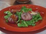 Салата със спанак, червен лук и доматен винегрет 3
