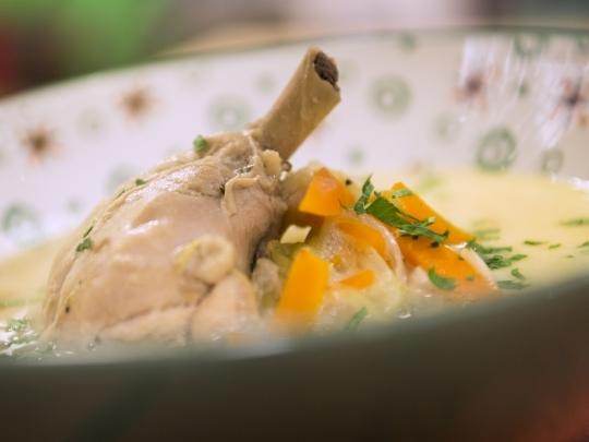 Фламандска пилешка супа