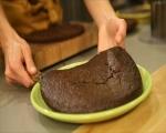 Шоколадова торта с тиква и карамелен крем 10