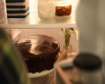 Шоколадова торта с тиква и карамелен крем 17