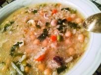 Супа от нахут и ориз с джоджен