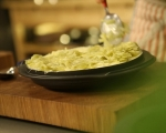 Запечено картофено пюре с праз и бекон 10
