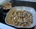 Пилешки пържолки със сметана и гъби 2