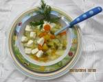 Супа от тиквички, картофи, моркови и пресен лук 5
