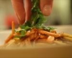 Топла салата от моркови и ябълки 6