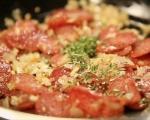 Бобена салата с луканка 2