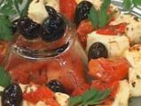 Сирене с чушки и домати на фурна