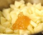 Ябълков крем с маскарпоне и вафли 2