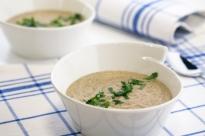 Гъбена крем супа с боб