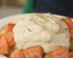 Сьомга с броколи и картофи на фурна 4