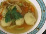 Картофени кюфтенца със зеленчуци соте