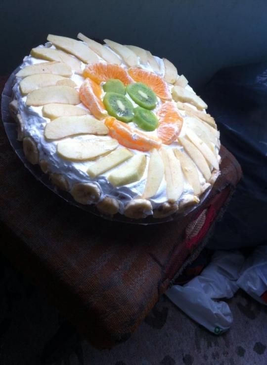 Плодова торта с желатин