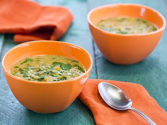 Супа от леща и спанак