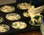 Спаначени мъфини с шапка от сирене 6