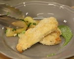 Пилешки шницели с магданозено песто 6