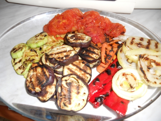 Зеленчуци на грил тиган