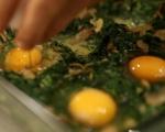 Печени яйца с гъби и спанак 8