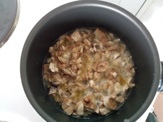Гъби с пармезан