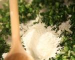Зелена супа с тортелини  2