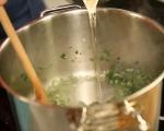 Зелена супа с тортелини  3