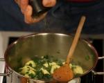 Зелена супа с тортелини  5
