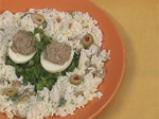 Пълнени яйца със сардини и оризова са...