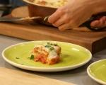 Пилешко с доматен сос и моцарела 11