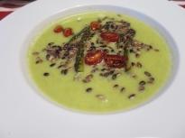 Крем супа от зелени аспержи с карамел...
