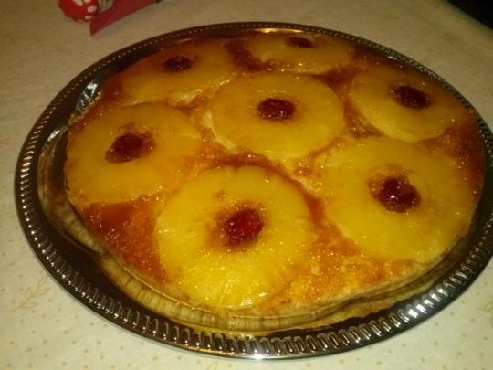 Обърнат ананасов сладкиш