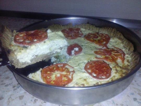 Пълнозърнест зеленчуков тарт