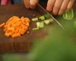 Пиле на пара със зеленчуци 2