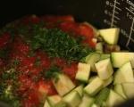 Пиле на пара със зеленчуци 4