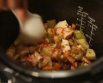 Пиле на пара със зеленчуци 5