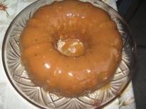 Кекс с карамелена глазура