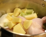 Студена супа с топло пиле