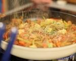 Сьомгова пъстърва със зеленчуци 21