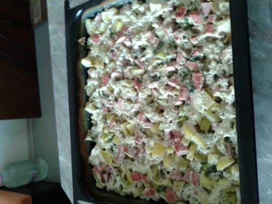 Тиквички с картофи на фурна
