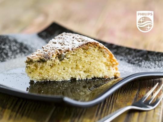 Лимонов кейк с шамфъстък