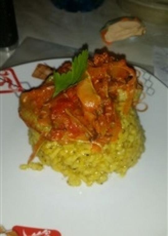 Ориз с шафран и зеленчуци