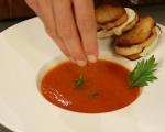 Супа от печени домати с крутони 7
