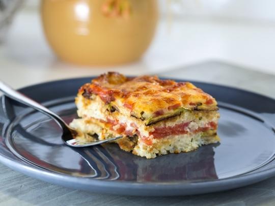 Тиквички с домати и ориз на фурна
