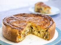 Пирог с пиле, гъби и ориз (Курник)
