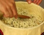 Пирог с пиле, гъби и ориз (Курник) 13