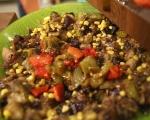 Баница с печени зеленчуци 5