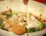 Паста с пилешко и броколи 7